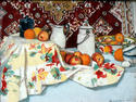 """ Still -life with Apples and Oranges """